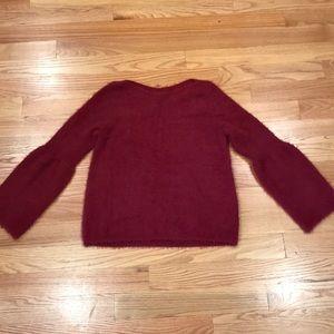 LC by Lauren Conrad burgundy red fuzzy sweater